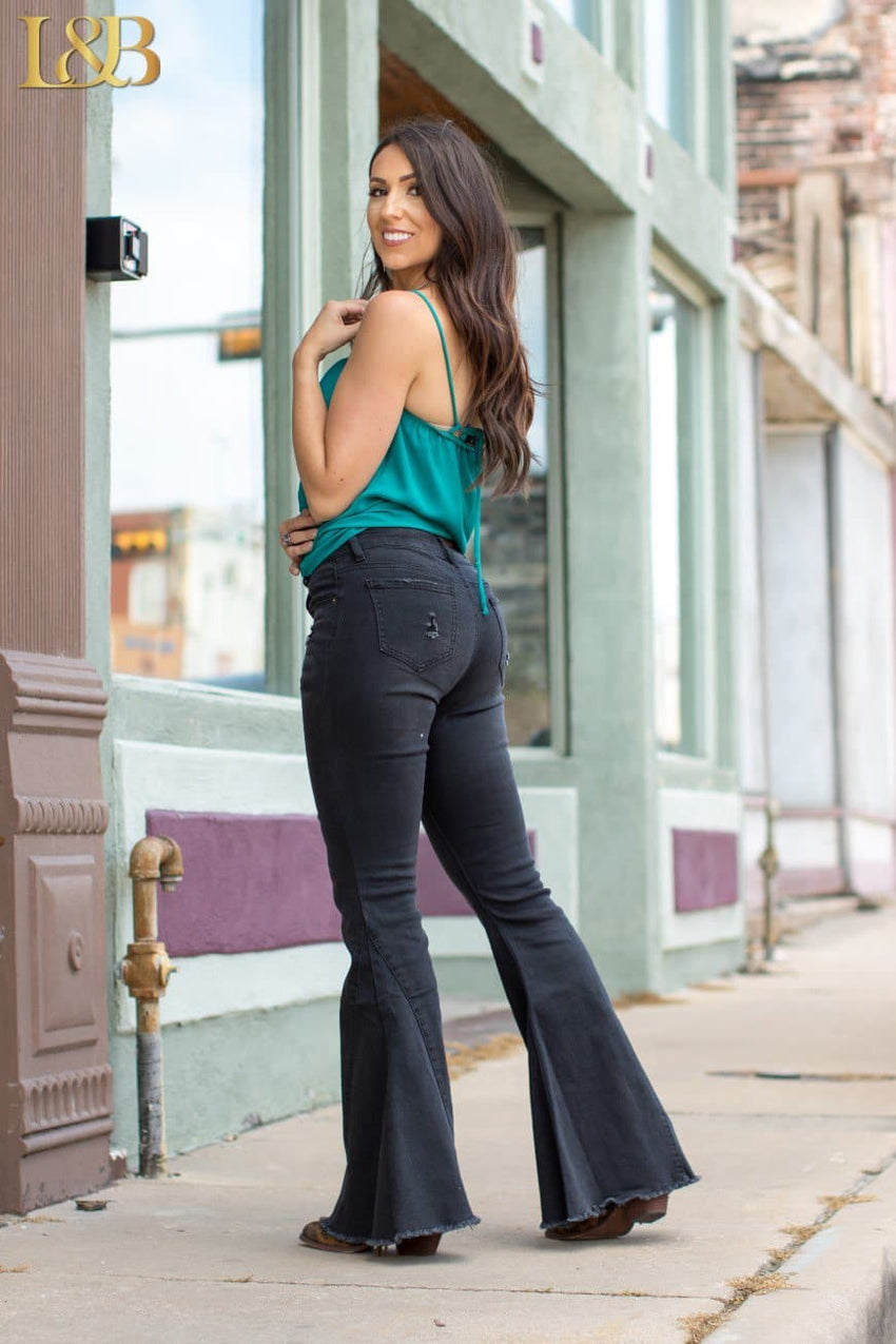 Bea's Black Bell Bottoms Jeans