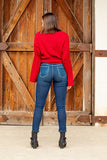 Sassy's Skinny Jeans with Serape Patches