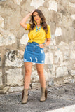 Color Your World Denim Skirt