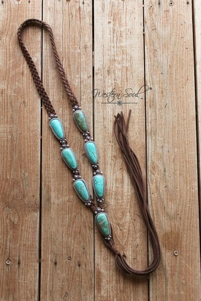 Lakota Braided Stone Necklace