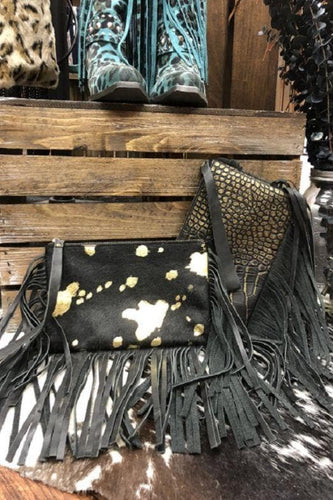Cowhide and Gator Clutch