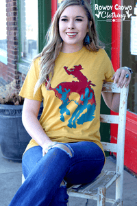 Bowie Bronc western tee shirt