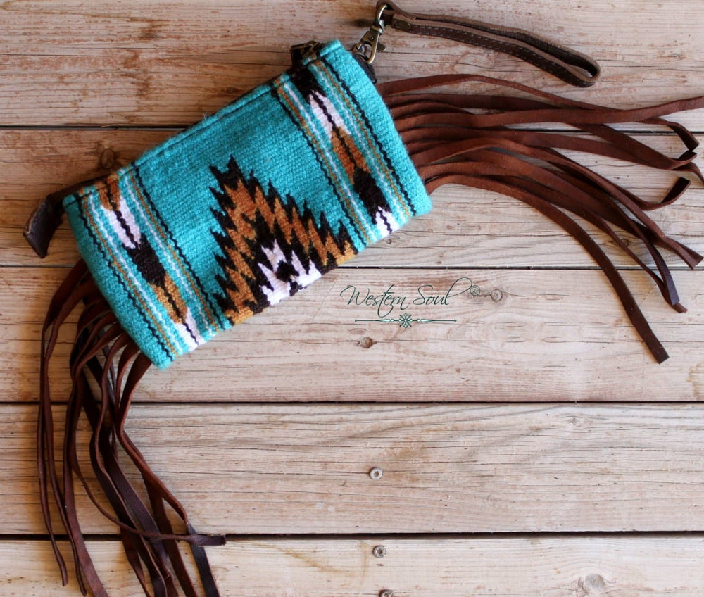 Elissa's Saddle Blanket Wristlet