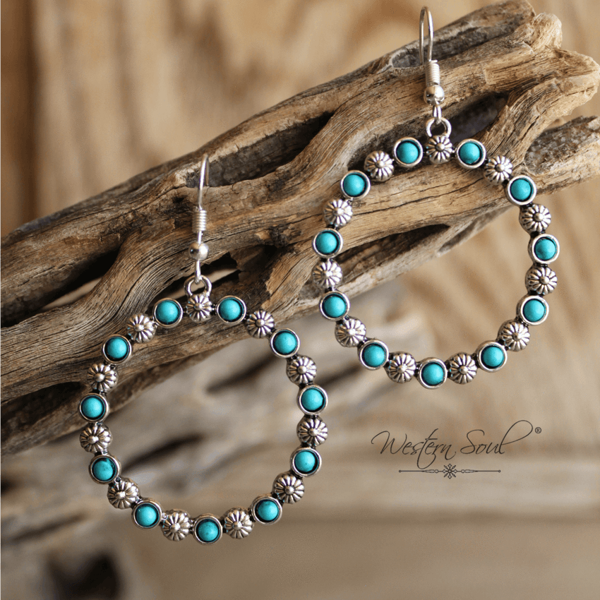 Navajo Style Hoop Earrings