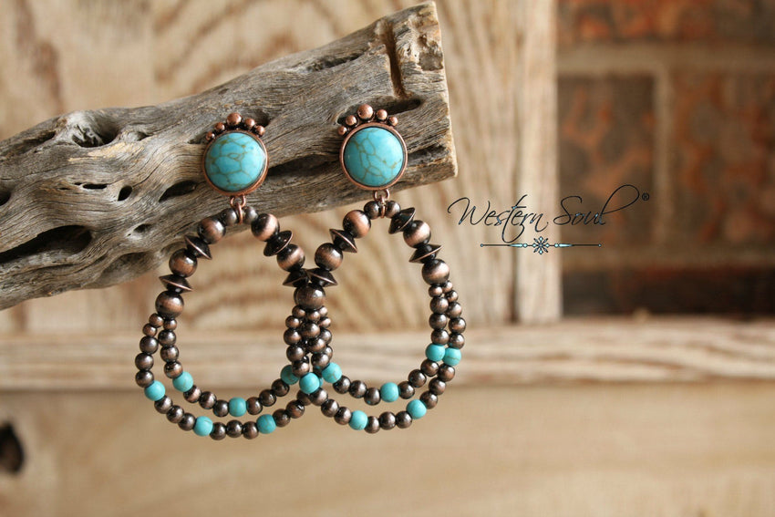 Navajo Pearl Hoop Earrings