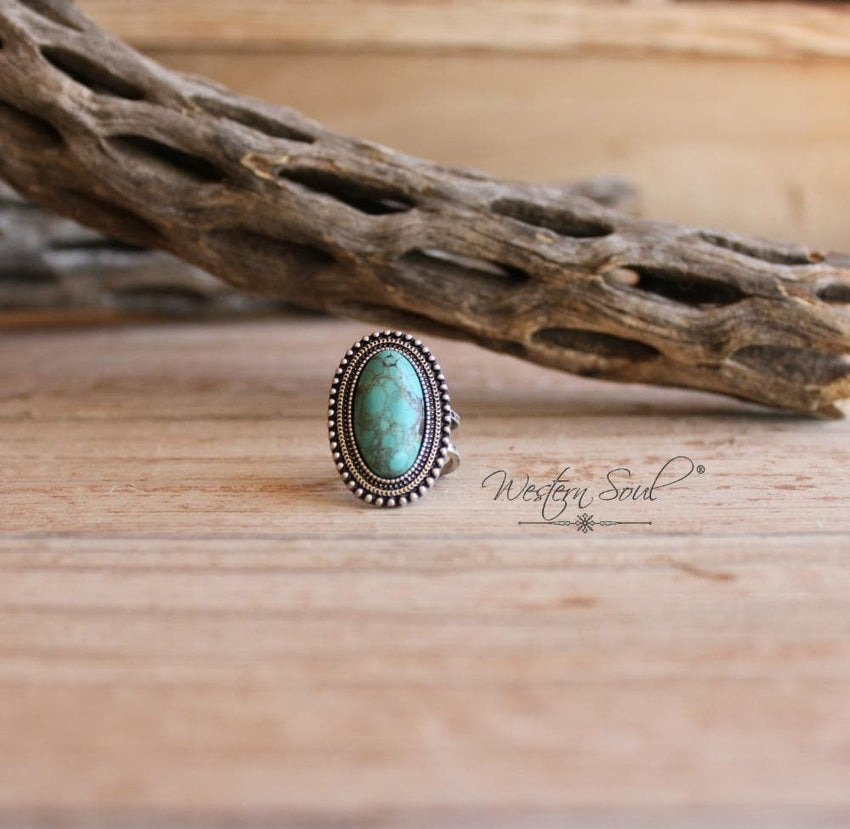 Ladies Oval Turquoise Ring
