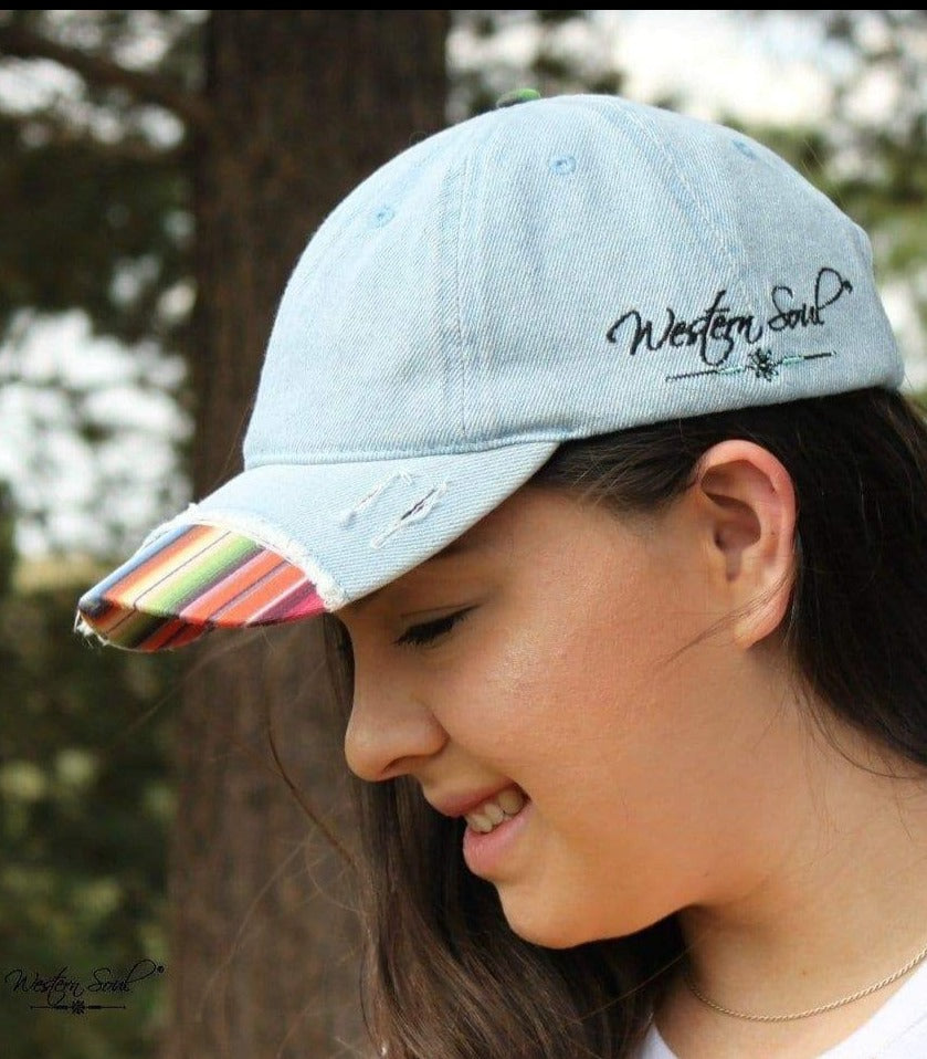 Distressed Serape Cap