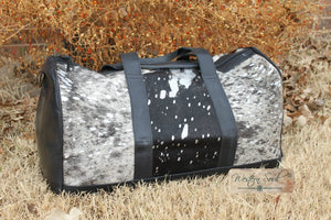 Silver Acid Wash Duffel Bag