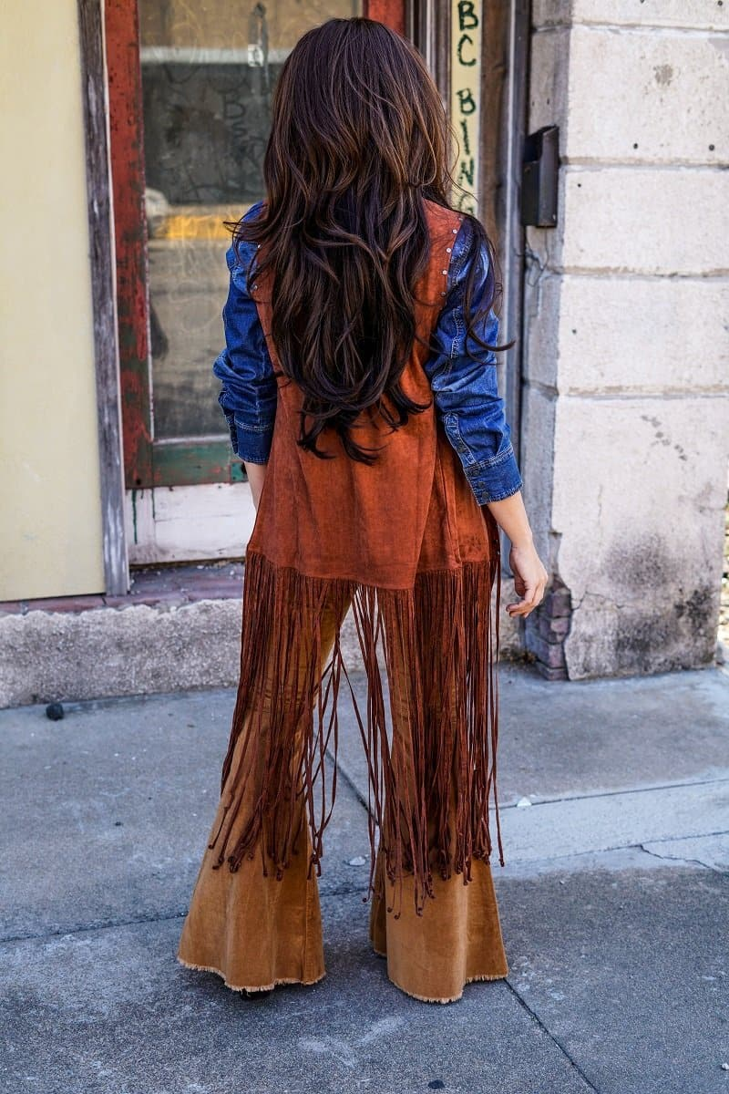 cowgirl fringed vest