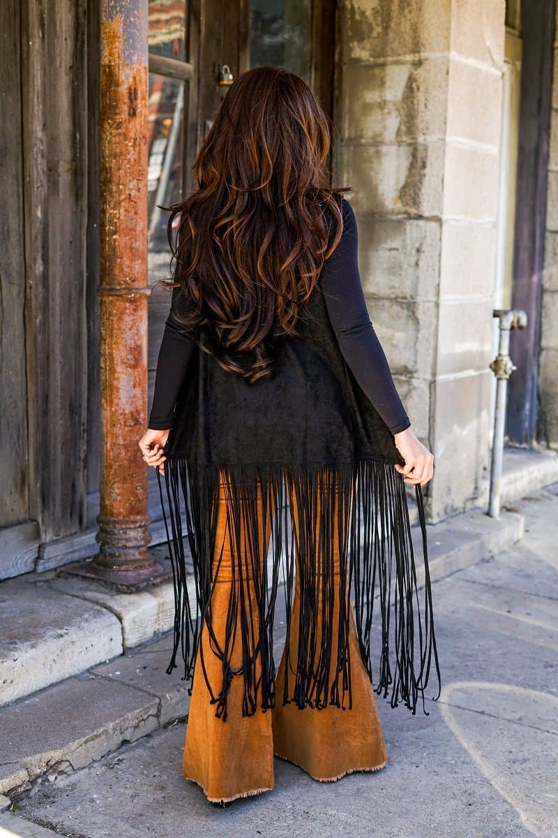 Tombstone Black Fringe Duster