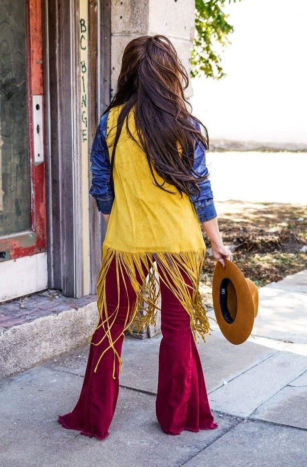 Yellowstone Fringe Vest back