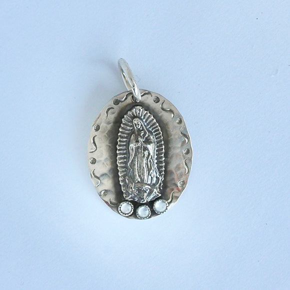 Guadalupe with Mother of Pearl Pendant