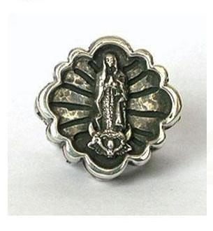 Large Virgin Cross Ring
