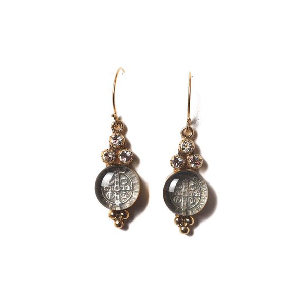 San Benito Lucia Earring - Gold - Clear