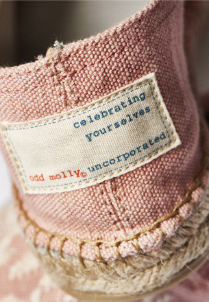 Pink Embroidered Espadrilles