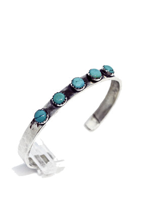 5 Turquoise Stone Cuff