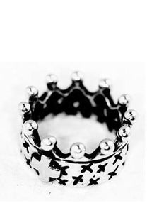 Crown Ring with Cross