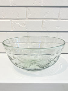 Mexico Glass Punch Bowl - Clear