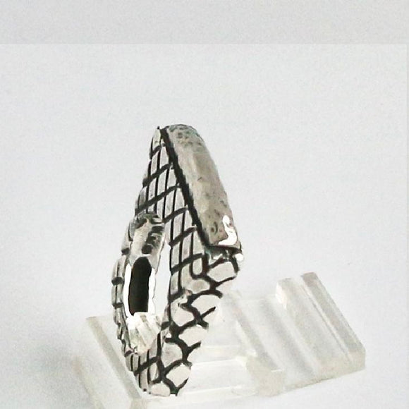 Thin Hammered Stack Ring