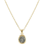 Gold Pavia Coin Frame Necklace