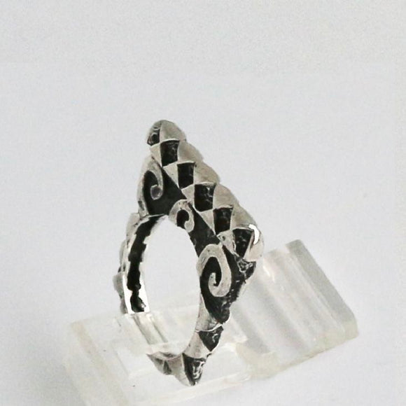 Swirl Hammered Stack Ring