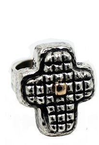 Puffy Squares Cross Ring