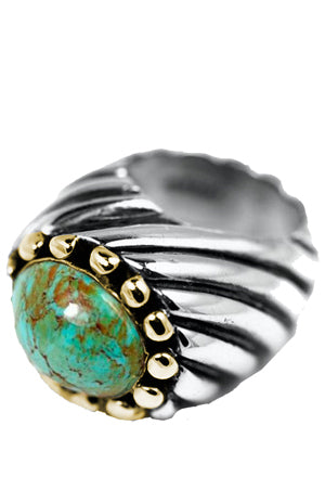 Ribbon Ring with Stone