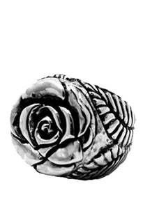 Rose Top with Leaf Shank Ring