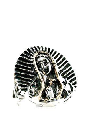 Round Praying Virgin Ring