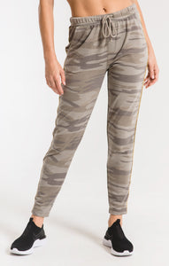 Camo Sporty Jogger Pant- Light Sage