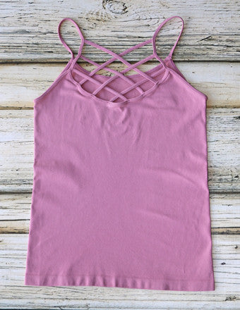 Withered Rose Criss Cross Cami