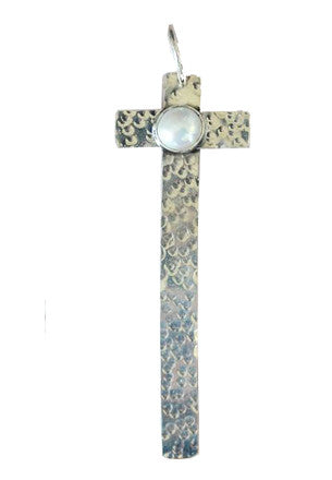 Large Santa Fe Cross with Pearl