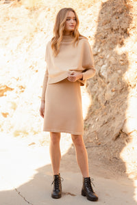 Turtleneck Vest & Midi Dress Set