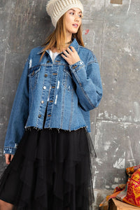 Boyfriend Crop Denim Jacket