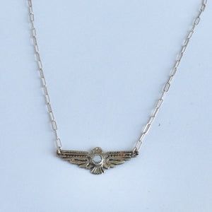 "16"" Thunderbird with Mother of Pearl Necklace"
