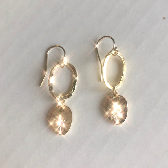 Gold Stardust Earrings