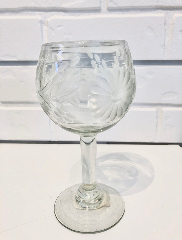 Mexico Glass Wine Goblet