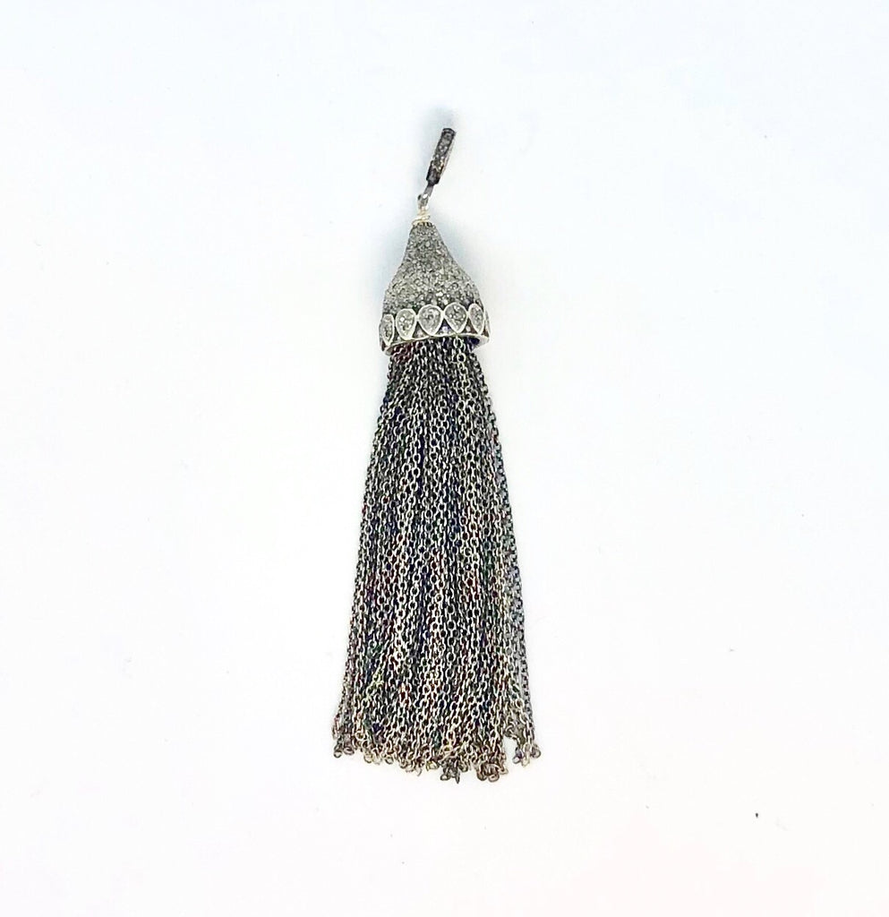 Chain and Diamonds Tassel Pendant
