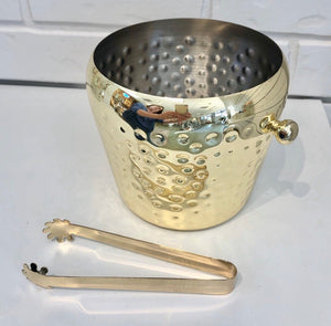 Stainless Hammered Ice Bucket