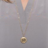 "31"" Cherish Large Gold Locket Necklace"
