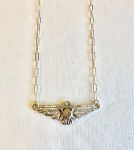 "15"" Thunderbird with Gold Dot Necklace"