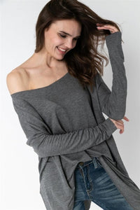 Charcoal Oversized Dolman Top