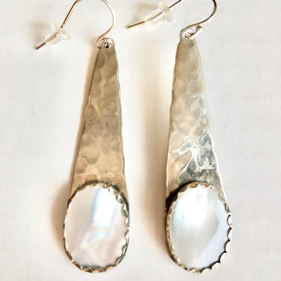 Sterling and Mother of Pearl Earrings