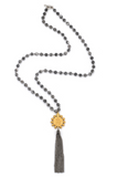 Matisse Jasper with Crowing Mary Medallion and Tassel