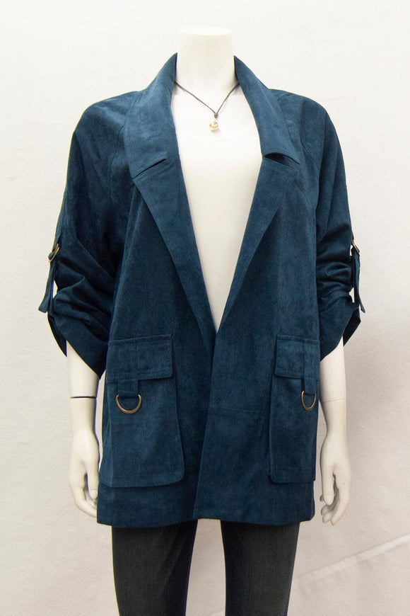 Navy Suede Jacket