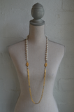 White Pearl and Versailles Chain with Cuvee Pendants Necklace