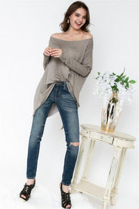 Sand Oversized Dolman Top