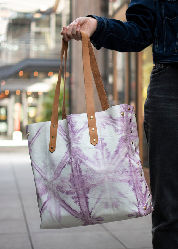 City Tote<br>Shibori dyed No. 1