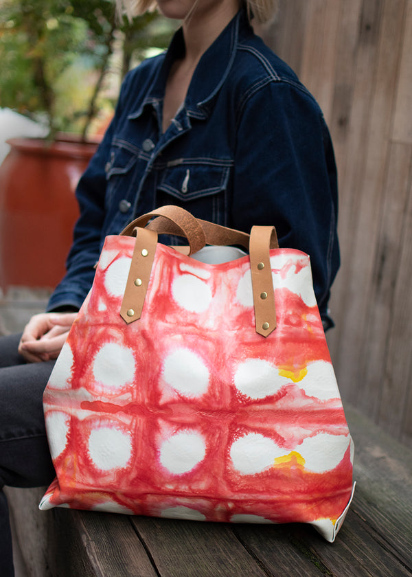 City Tote<br>Shibori dyed No. 2