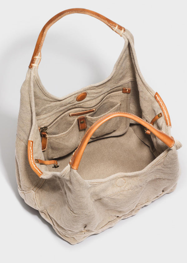 Stash Your Life Tote<br>Flax